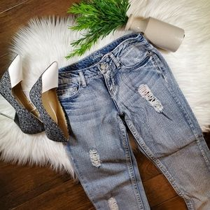Vanity Skinny Ankle Jeans   sz 26   distressed